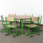 stolik okrągły i krzesła BOSTA przedszkolne