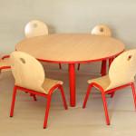 stolik okrągły z krzesłami ALA